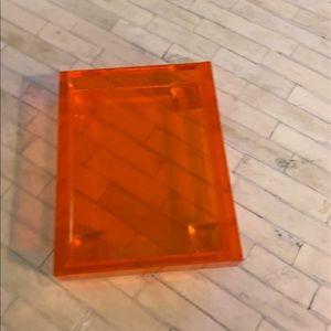 Orange plexi tray